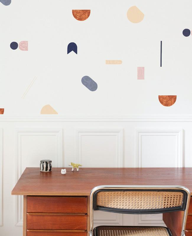 papier motif couleur deco bureau