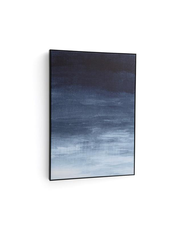 toile lin bleu