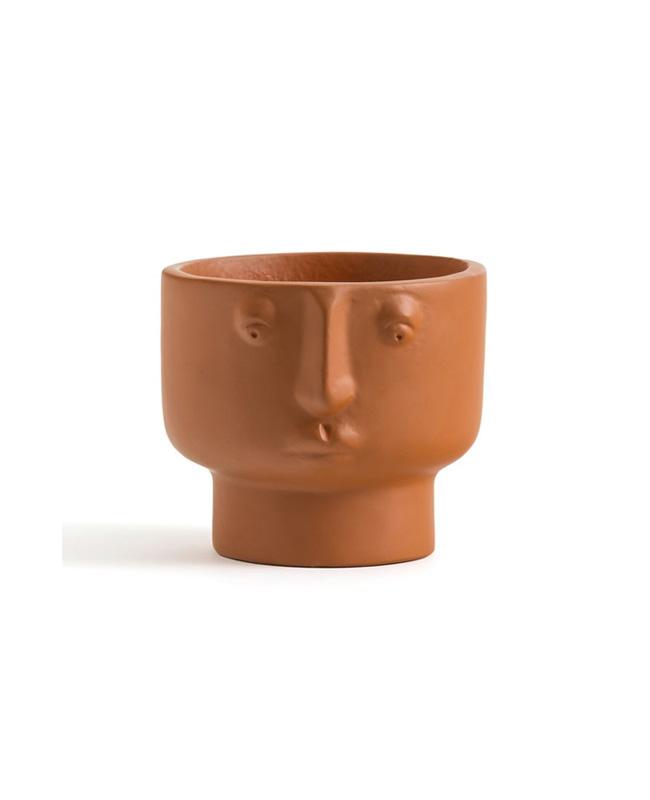 pot visage terracotta