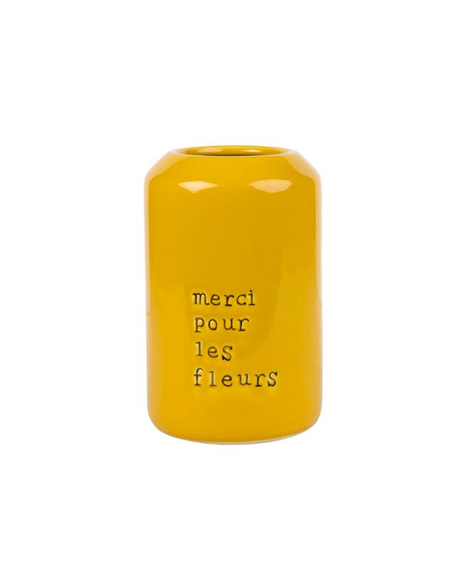 vase céramique jaune