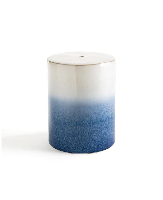 bout canape céramique bleu