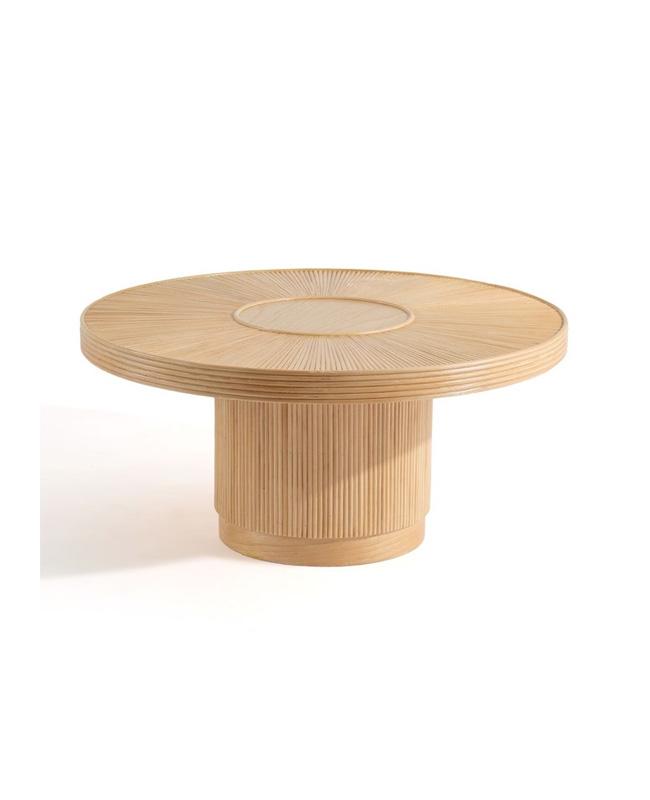 table basse rotin ronde