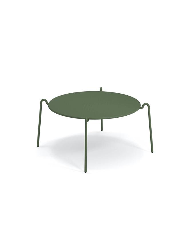 table basse metal vert kaki