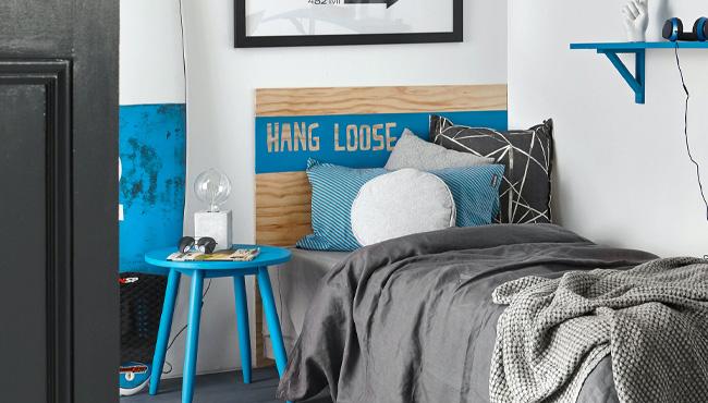 deco chambre ado gris bleu