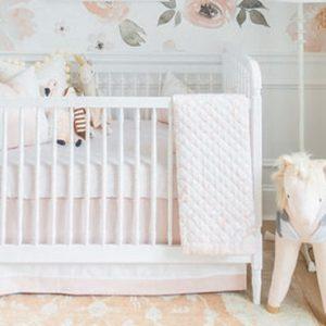 deco chambre bebe blanc rose