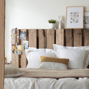 deco chambre blanc bois