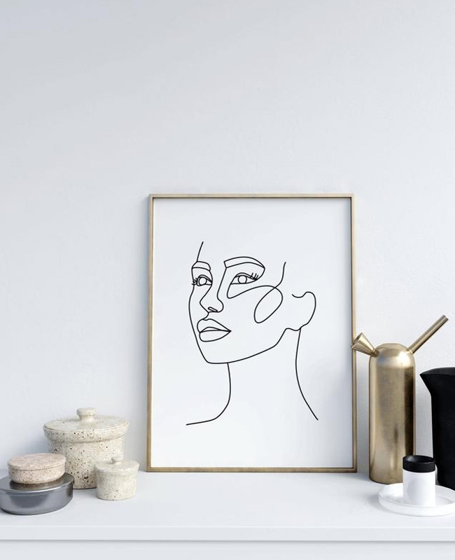 affiche visage profil noir