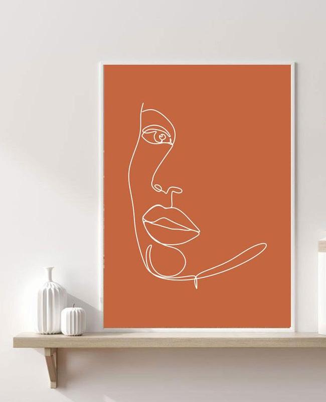 affiche visage terracotta