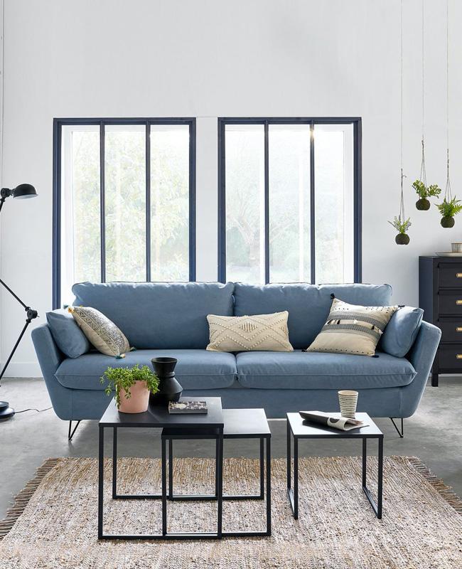 canape moderne bleu