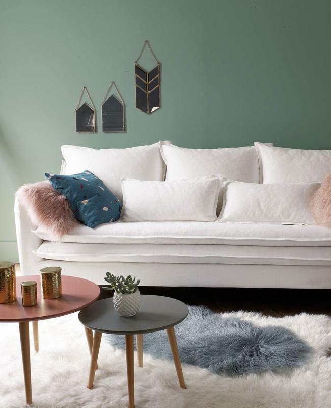 canape scandinave blanc
