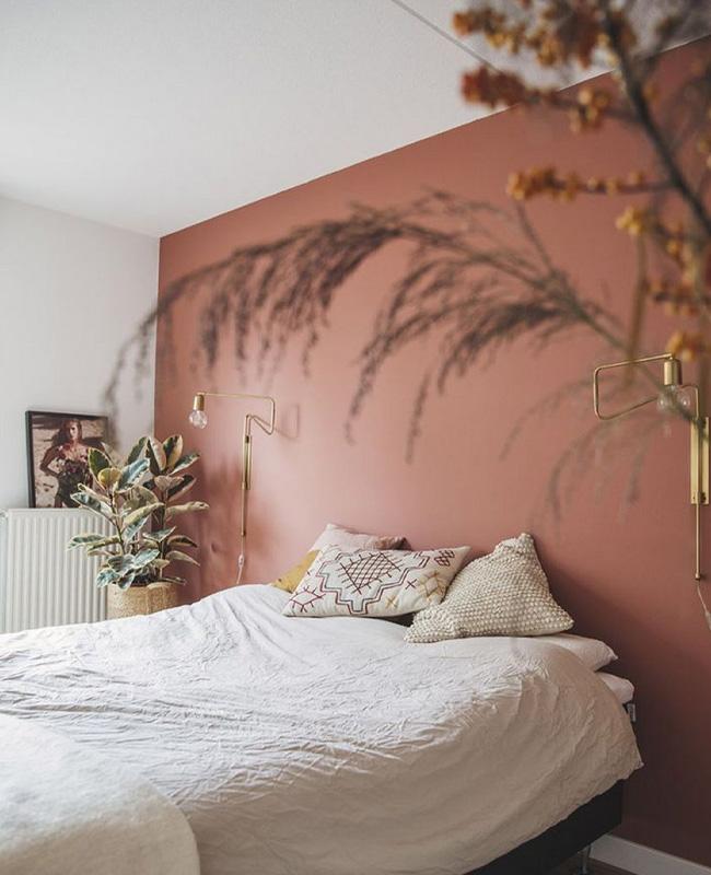 deco chambre terracotta mur