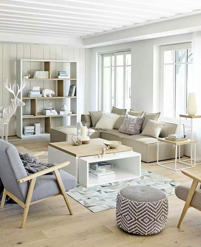 deco salon scandinave nature beige