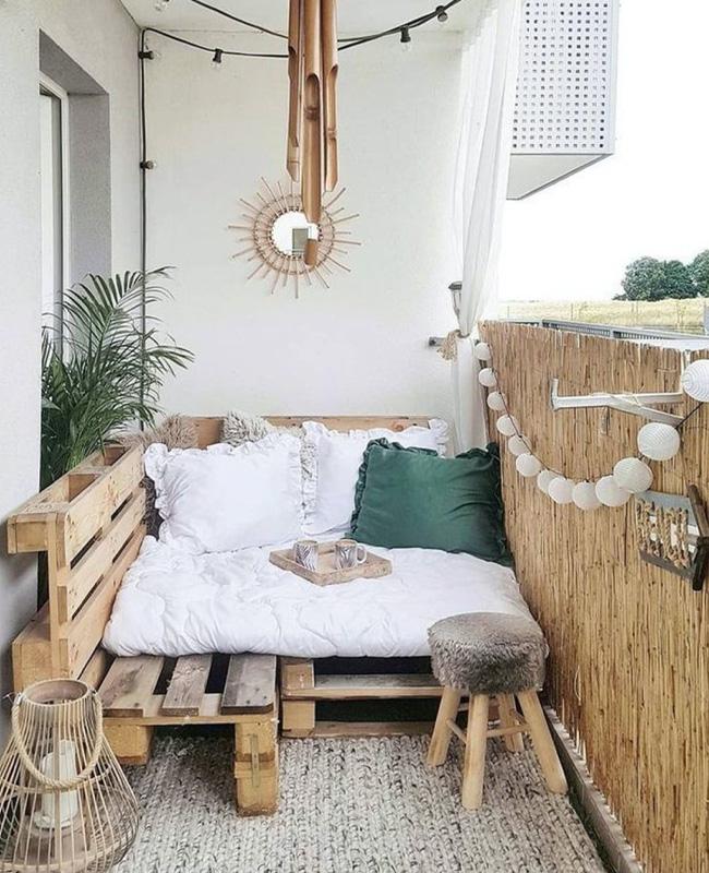 lit palette deco balcon cosy