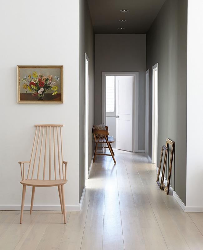 peinture couloir moderne vert kaki