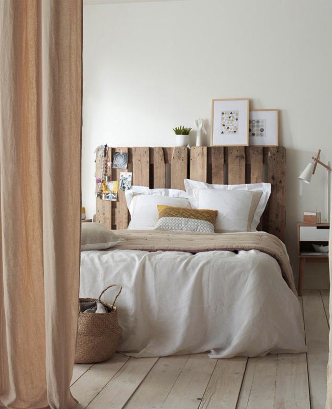 deco chambre blanc bois recup