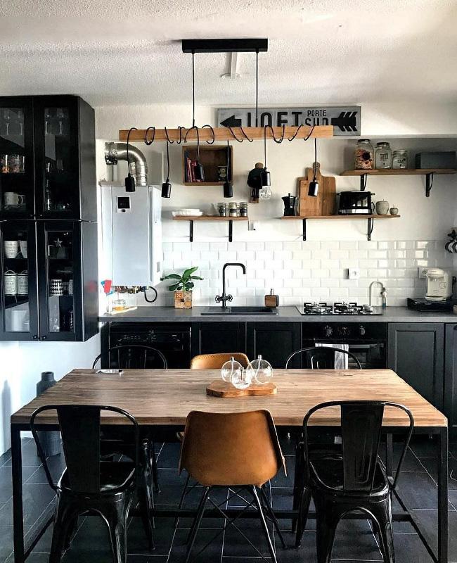 deco cuisine industrielle noire