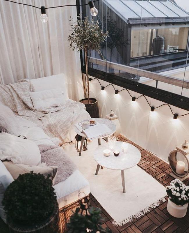 balcon cocooning blanc
