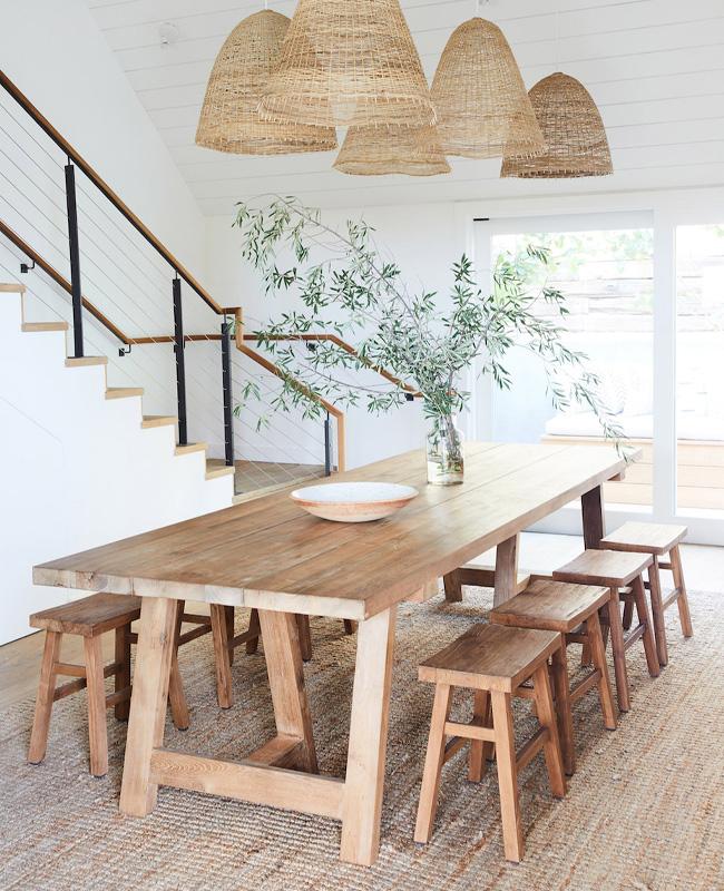deco salle a manger campagne moderne bois