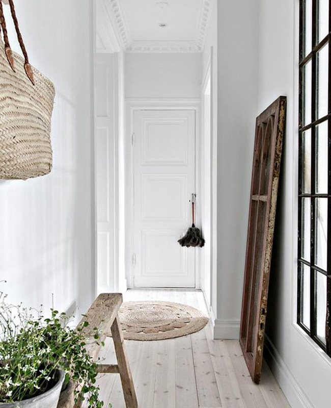 peinture couloir blanc