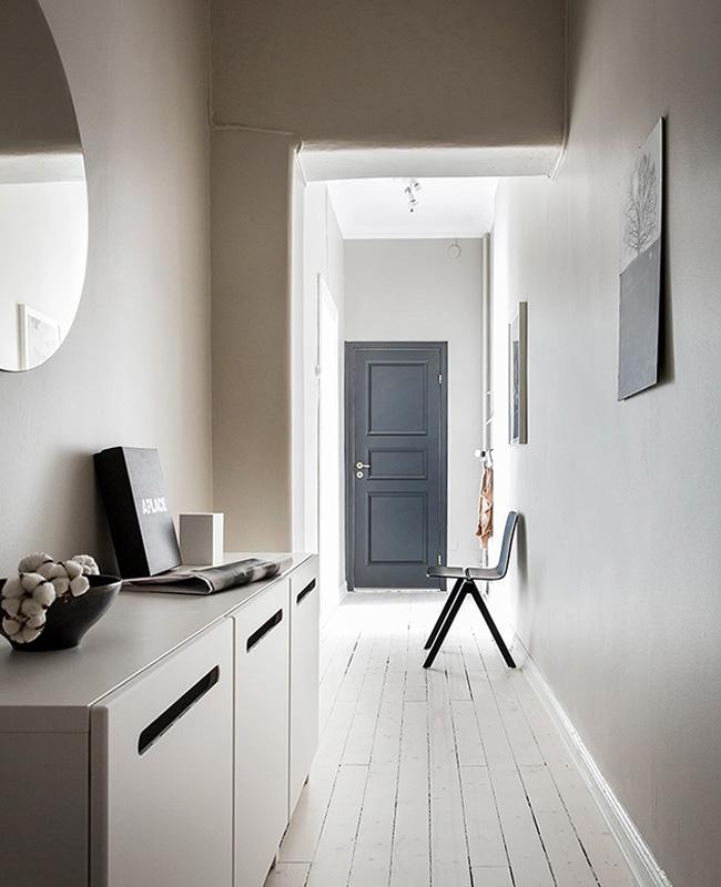 peinture beige deco couloir