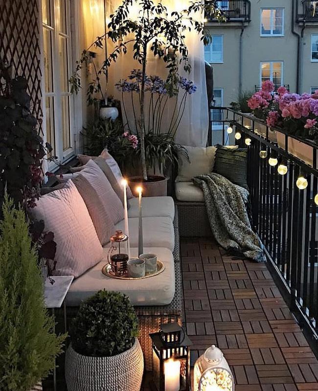deco balcon cosy guirlande