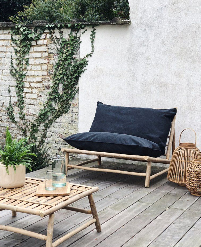 deco terrasse gris anthracite bambou