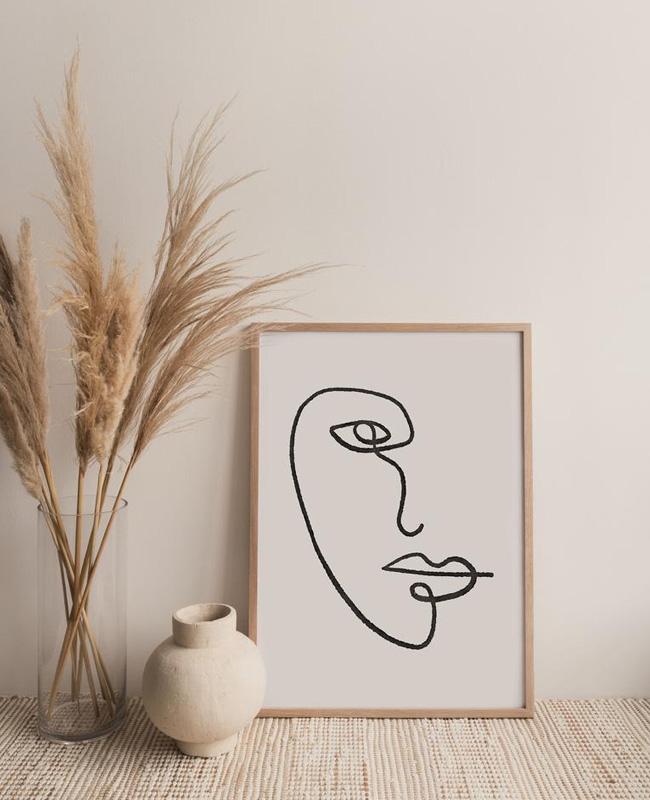 affiche visage minimaliste