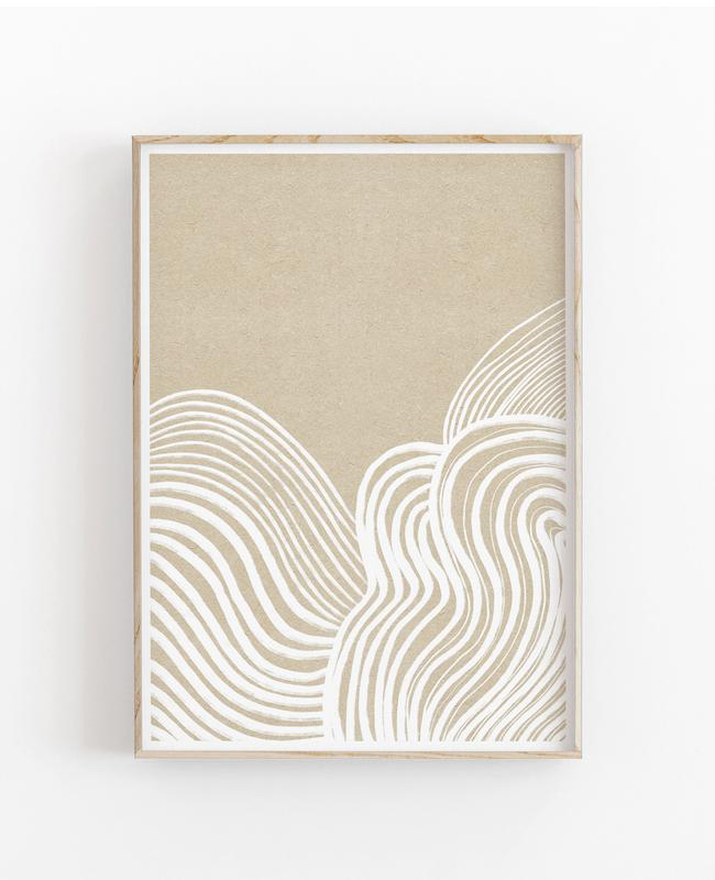affiche ligne minimaliste a imprimer beige