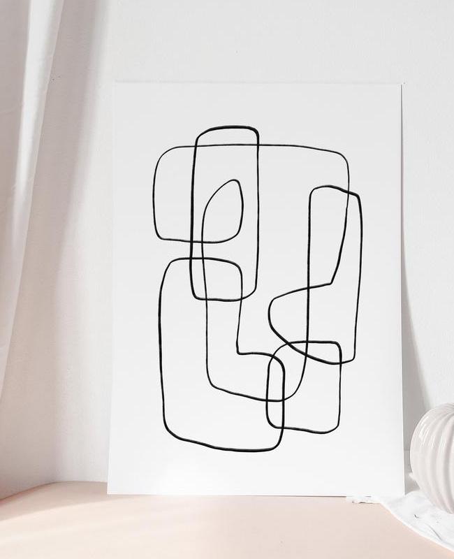 affiche ligne minimaliste a imprimer noire