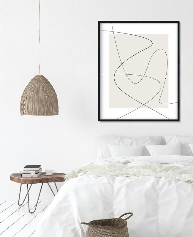 affiche ligne minimaliste a imprimer beige noir