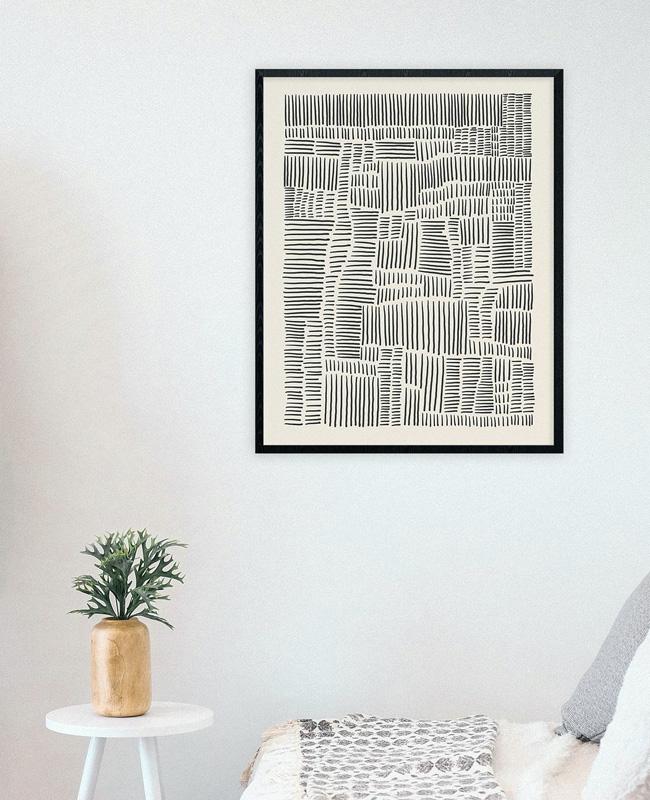 affiche ligne minimaliste a imprimer boheme