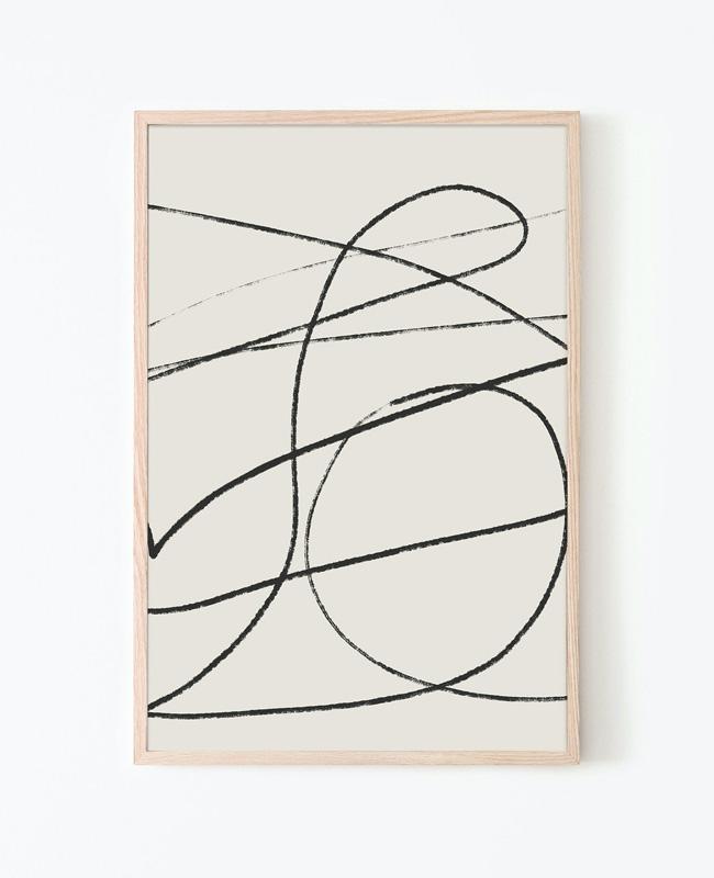affiche ligne minimaliste a imprimer