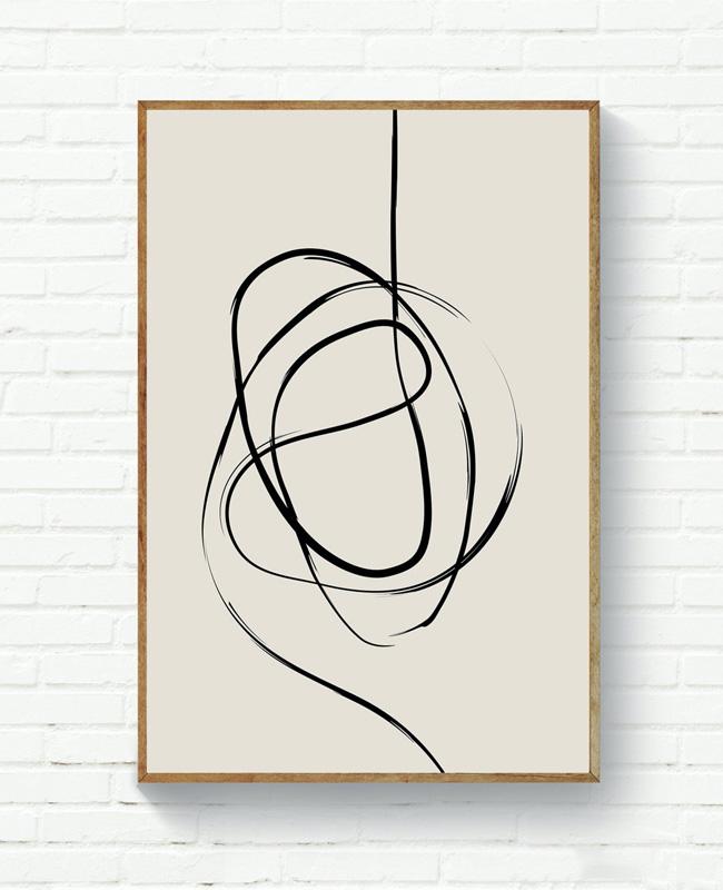 affiche ligne noire minimaliste