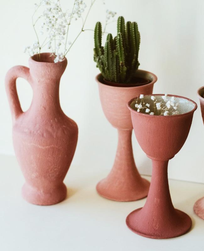 tuto deco vase texture terre cuite bicarbonate diy