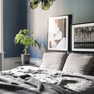 deco chambre bleu canard gris