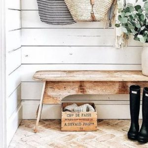 deco entree campagne chic