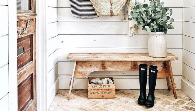 deco campagne chic entree