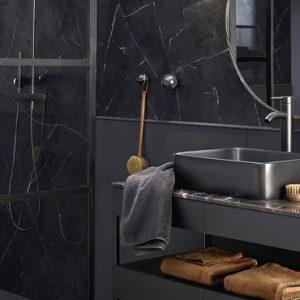 deco salle de bain moderne noir
