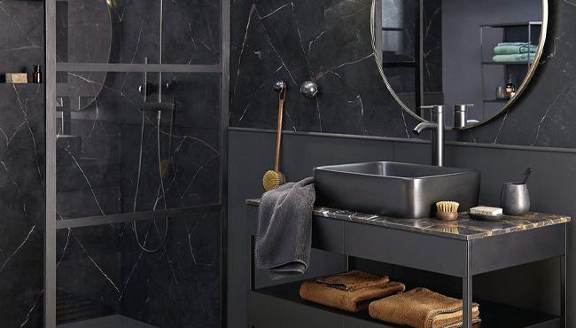 deco salle de bain noir moderne