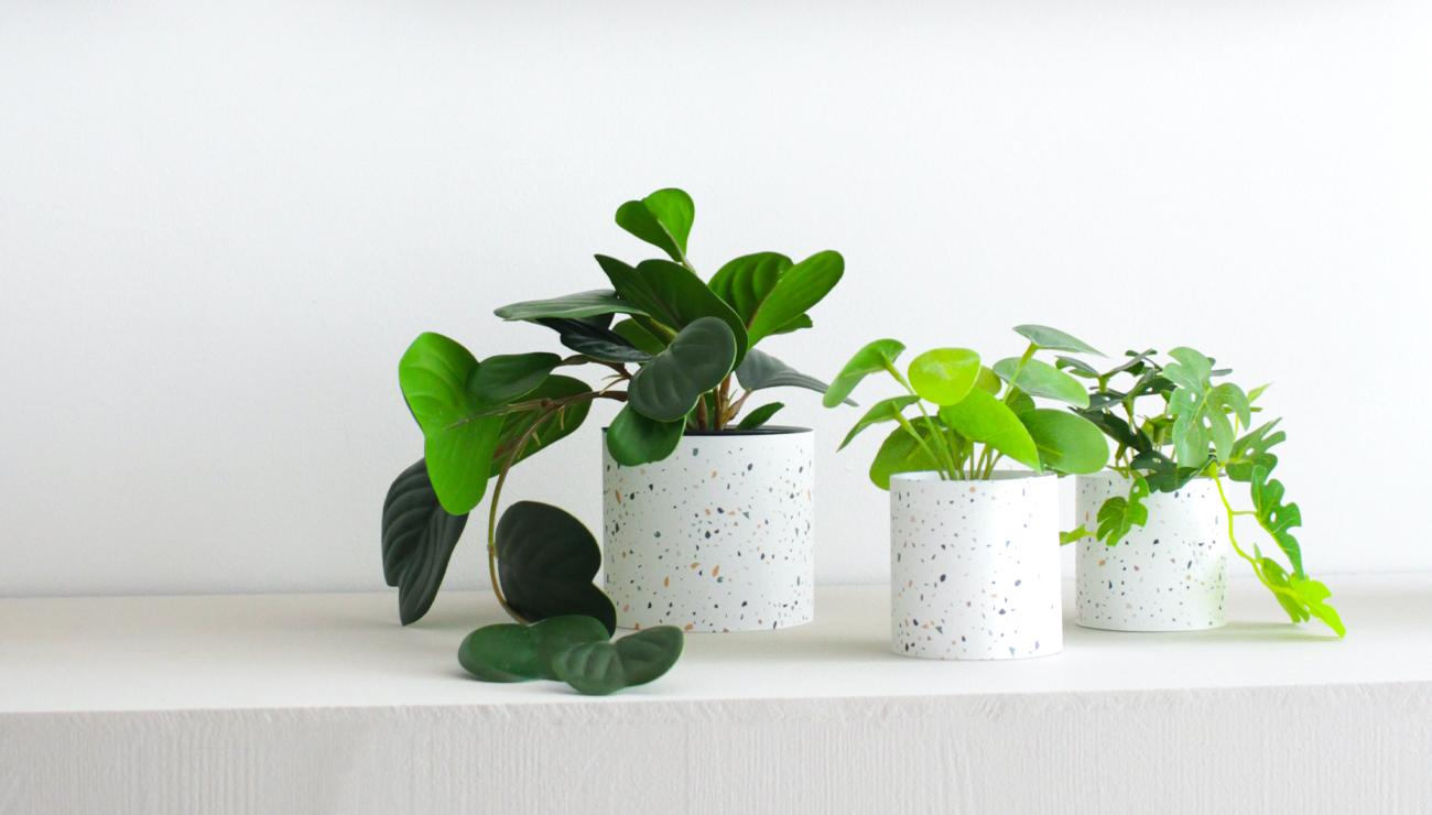 motif terrazzo à imprimer pot vase diy printable