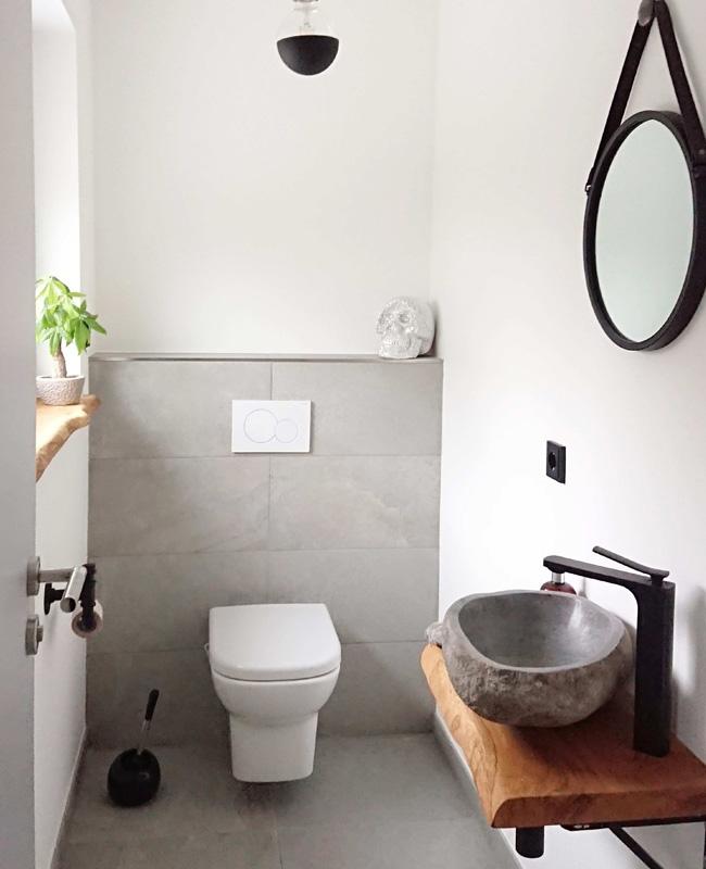 deco toilettes wc gris bois nature