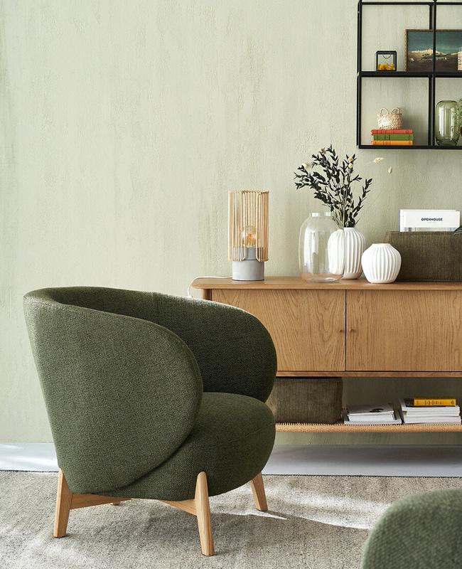 fauteuil moderne vert kaki