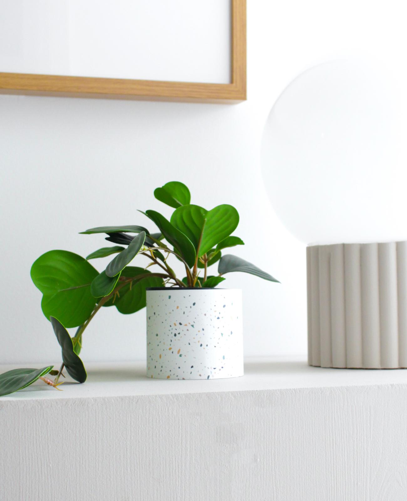motif terrazzo a imprimer pot vase diy