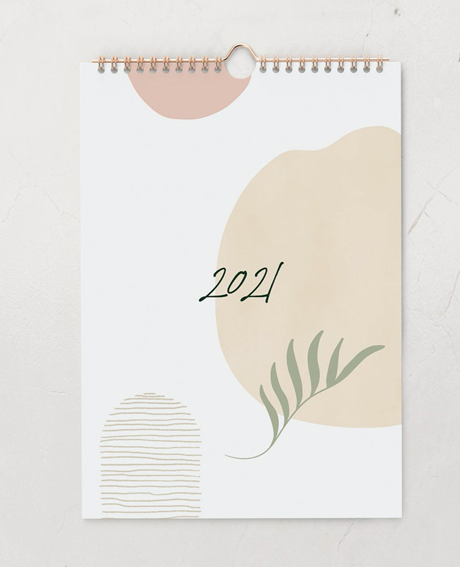 calendrier 2021 a imprimer vegetal