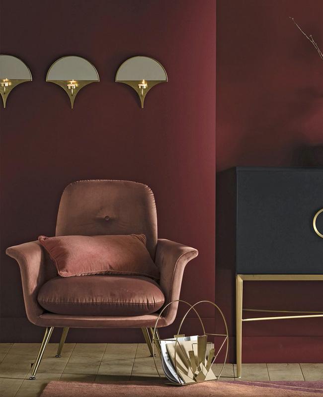 fauteuil velours rose vintage