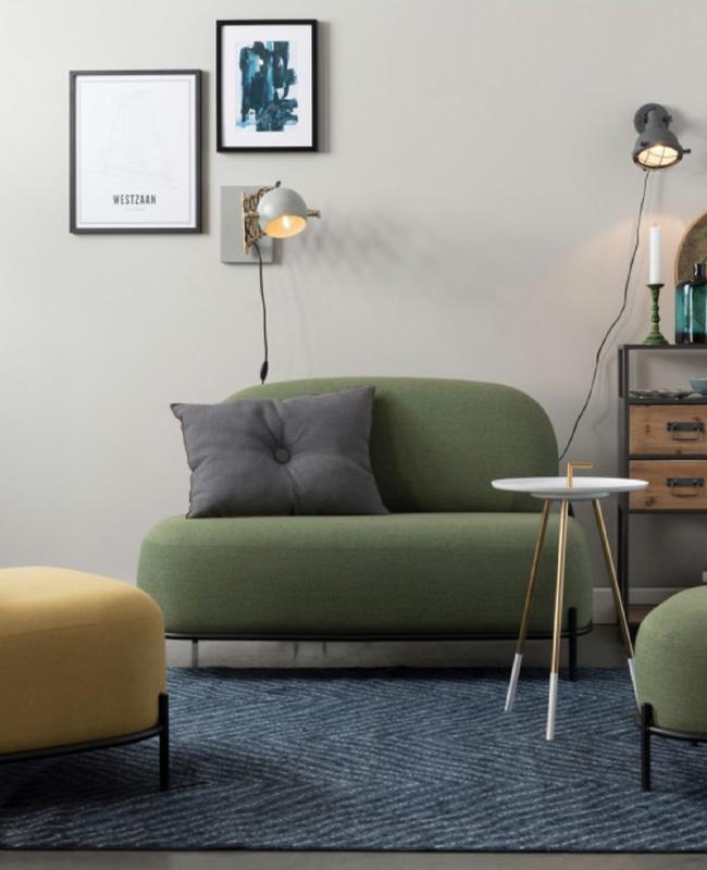 petit canape moderne vert kaki