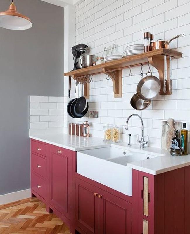 deco cuisine rouge gris vintage