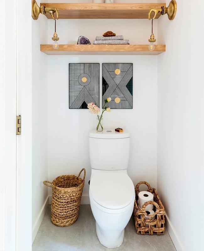 deco toilettes wc gris bois boheme