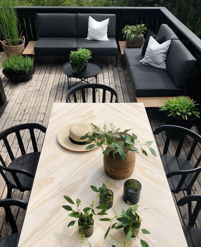 terrasse moderne noir bois
