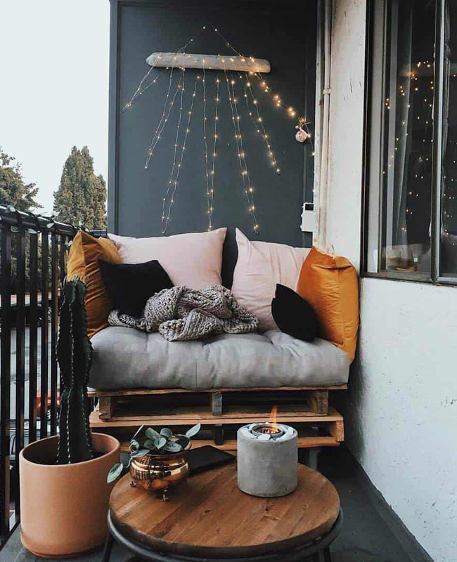 deco balcon cocooning moderne coussin